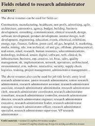 Research Administrator Sample Resume Top 100 research administrator resume samples 2