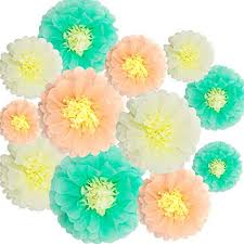 Made Flower With Paper Paper Flowers Decorations 12 Pcs Tissue Paper Flower Diy Crafting For Wedding Backdrop Nursery Wall Baby Shower Decoration Mint