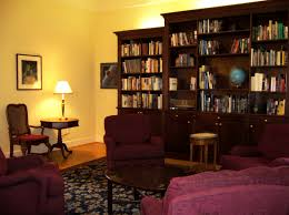 formal english library built in gany bookcase wall custom area carpet matches foyer dream home furnishings
