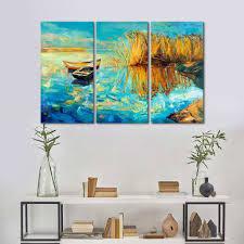 multi canvas art beautiful lake multi panel canvas wall art