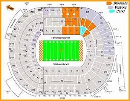 Lane Stadium Seating Chart Student Section Neyland Stadium Seating Chart Information