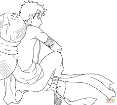 Small Picture Coloring Pages Boys Gaara Coloring Page Naruto Coloring Pages