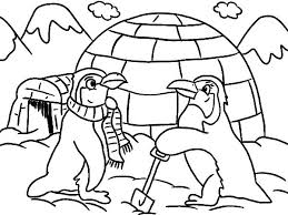 Small Picture Igloo Coloring Page Live In Pages Printable globetravelme