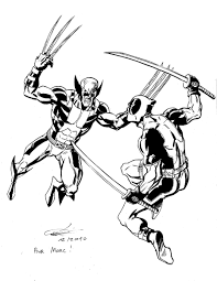 Small Picture Batman Vs Deadpool Coloring Pages Coloring Pages