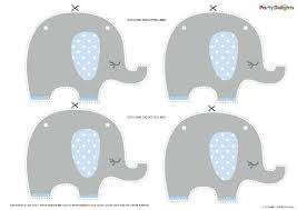Baby Elephant Template Free Printable Elephant Baby Shower Bunting Party Delights Blog
