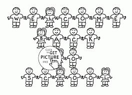 Small Picture Kids Welcome Back to School coloring page for kids school