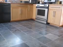 perfect grey floor tiles for kitchen with maple cabinet