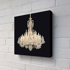 grand chandelier black modern still life painting canvas art gallery 19 of 26