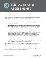 Job Performance Sample Employee Assessment Samples Self Evaluation