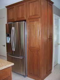 Kitchen Cabinets Refrigerator Built In Refrigerator Cabinet Surround Traditional Kitchens