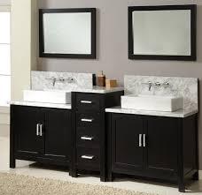 bathroom double vanities ideas. Charming Black Wooden Bathroom Vanity Cabinet With Double Undermount Sink For Your Interior Design Along Vanities Ideas