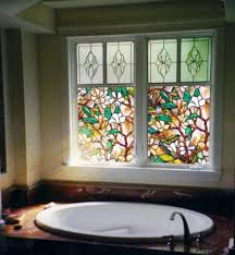 etched glass window clings 3d colorful flowers stained glass static cling window for