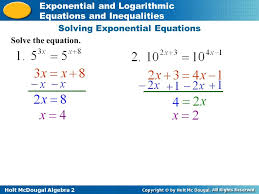 exponential equation worksheet jennarocca solving log equations and inequalities