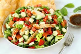 grilled chicken salad. Plain Chicken Margherita Grilled Chicken Salad On N