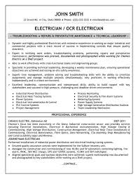 Sample Resume For Electrical Technician 9 Examples Electrician