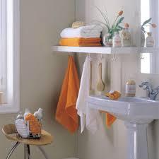 Bathroom Towel Decor Bathroom Captivating White Bathroom Design With Neat White