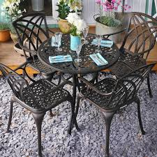85cm round cast aluminium patio set 10 reviews write review a very smooth and faultless experience overall great company to from