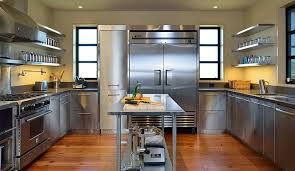 commercial style kitchen cabinets stainless steel classic kitchen