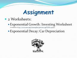 Exponential Growth & Decay - ppt download