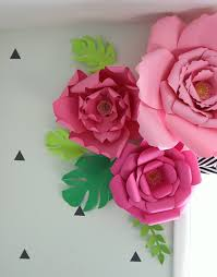 Large Paper Flower Pattern How To Make Paper Flowers Thecraftpatchblog Com