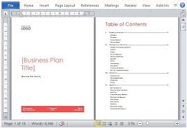 Free Business Plan Templates Word Business Plan Template On Word Asterlil Com