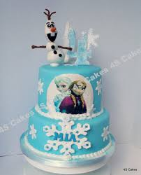Disney Frozen Theme Cake Edible Hand Made Olaf Please See Flickr
