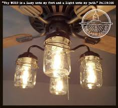 jar lighting. Mason Jar Ceiling Fan LIGHT KIT With Vintage Pints Lighting N
