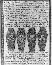 boston massacre as reported in the boston gazette skulls and  boston massacre essay the boston massacre in black white color
