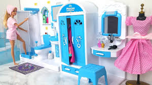 Barbie Bathroom Bedroom Morning Routine      Barbie  Banheiro Quarto