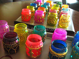 Decorating Mason Jars Diy Mason Jars Looks Cool Could Work For A Bollywood Themed
