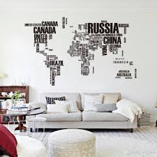 pvc poster letter world map quote removable
