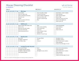 Cleaning Schedule Template Bravebtr