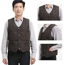 ZEVONDA <b>Man Waistcoat</b> - <b>Mens Down Cotton Vest</b> Autumn Winter ...
