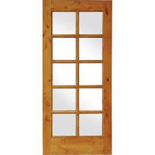 krosswood doors 32 in x 80 in knotty alder 10 lite low e insulated glass solid wood left hand single prehung interior door ka 410 28 68 134