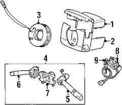 parts com® land rover discovery steering column components oem parts diagrams 2001 land rover discovery series ii se v8 4 0 liter gas steering column components