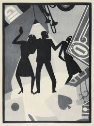 newly issued stamp showing aaron douglas cubist prodigal son painting douglas was the most prominent artist ilrator of the harlem renaissance in the