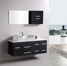 modern vanities for small bathrooms. Wallmounted Modern Small Bathroom Vanities Under Mirrored Cabinet In White Porcelain Flooring Tile: Full For Bathrooms S