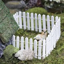 Miniature White Wood Picket Fence Fairy Garden Miniatures