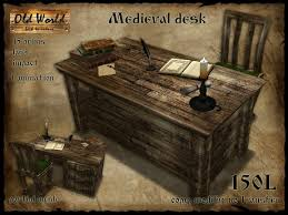 old office desk. Medieval Office Desk With Chair V2 - Old World Rustic Furniture E
