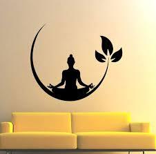meditating buddha fl wall sticker