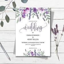 Wedding Invitation Templates Downloads Purple Wedding Invitation Template Download Printable