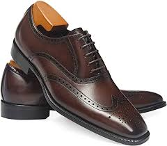 FRASOICUS Men's <b>Dress Shoes</b> Classic <b>Leather Business</b> Oxfords ...