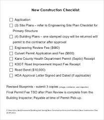 Contractor Checklist Construction Checklist Template 14 Free Word Pdf Documents