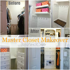 create a beautiful and efficient master closet on a budget