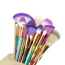 pincel. mermaid brush set series fish makeup brushes kit rainbow handle make up cosmetics pincel maquiagem