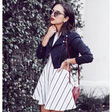 skirt dress fit and flare dress a line dress stripes striped dress mini dress jacket