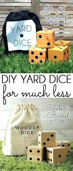 wooden yard make a set of dice for fraction the game