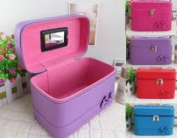 fashion makeup cosmetic case storage box makeup bag organizer