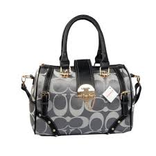 Best Style Coach Lock In Monogram Medium Grey Luggage Bags Byy Outlet GxZ1p