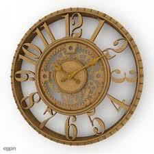 Decorative Wall Clock 09 royalty-free 3d model - Preview no. 1 в ...